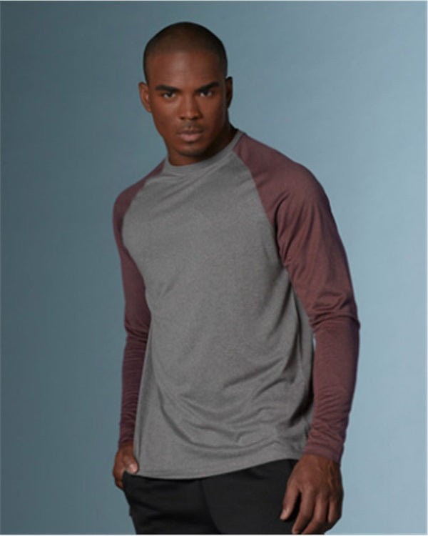 Heather Athletic Long sleeve Tee-MV Sport-Pacific Brandwear