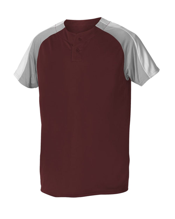 Two Button Henley Baseball Jersey-Alleson Athletic-Pacific Brandwear
