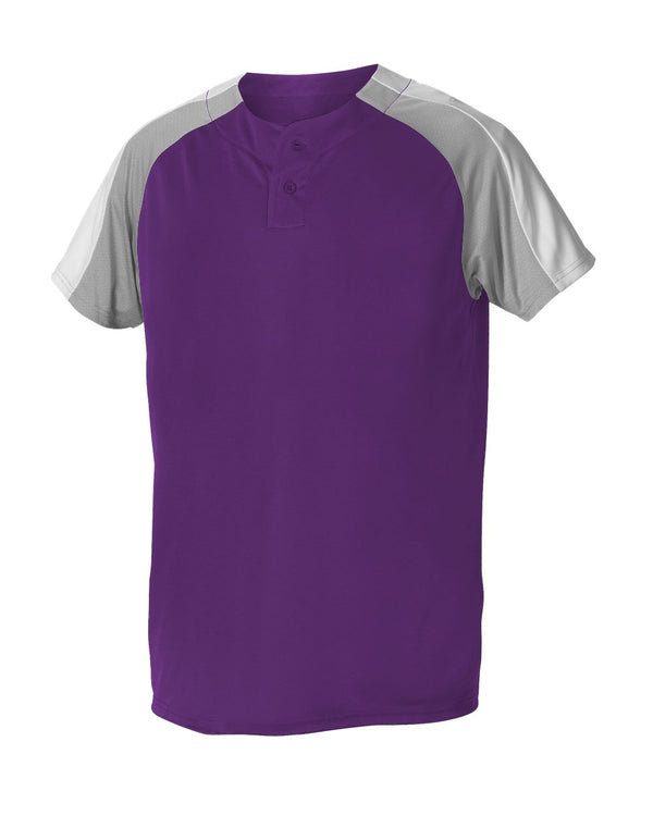 Youth Two Button Henley Baseball Jersey-Alleson Athletic-Pacific Brandwear