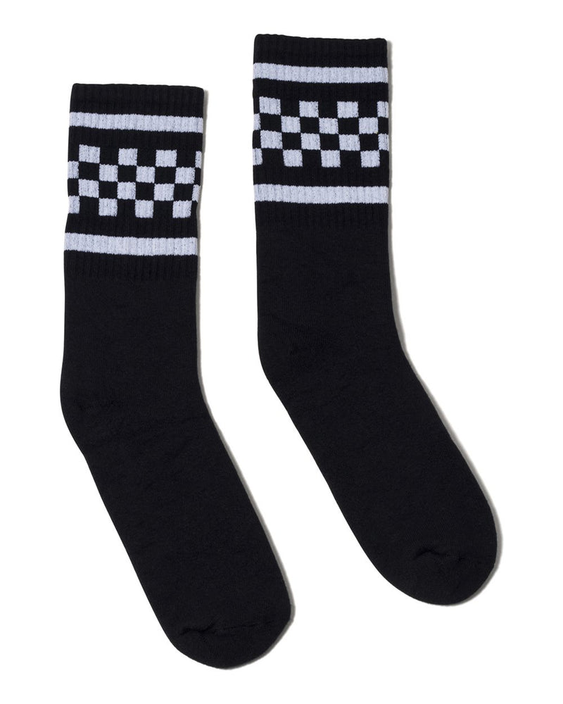 USA-Made Checkered Crew Socks-SOCCO-Pacific Brandwear