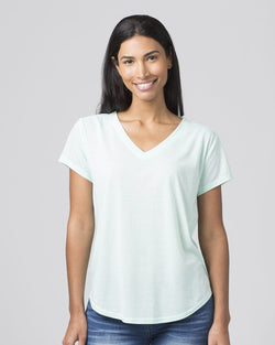 Women's Snow Heather V-Neck T-Shirt-Boxercraft-Pacific Brandwear