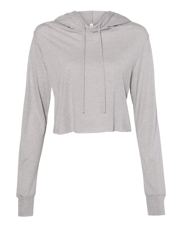 Fast Fashion Women's Triblend Cropped Long sleeve Hoodie-BELLA + CANVAS-Pacific Brandwear