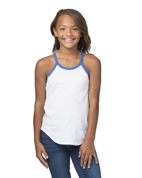Girls' Ringer Tank Top-Boxercraft-Pacific Brandwear