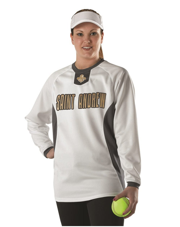 Youth Long sleeve Practice Pullover Jersey-Alleson Athletic-Pacific Brandwear