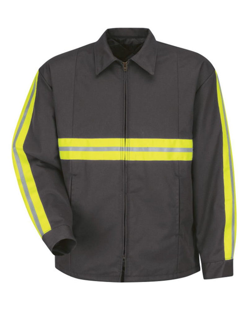 Enhanced Visibility Perma-Lined Panel Jacket - Long Sizes-Red Kap-Pacific Brandwear