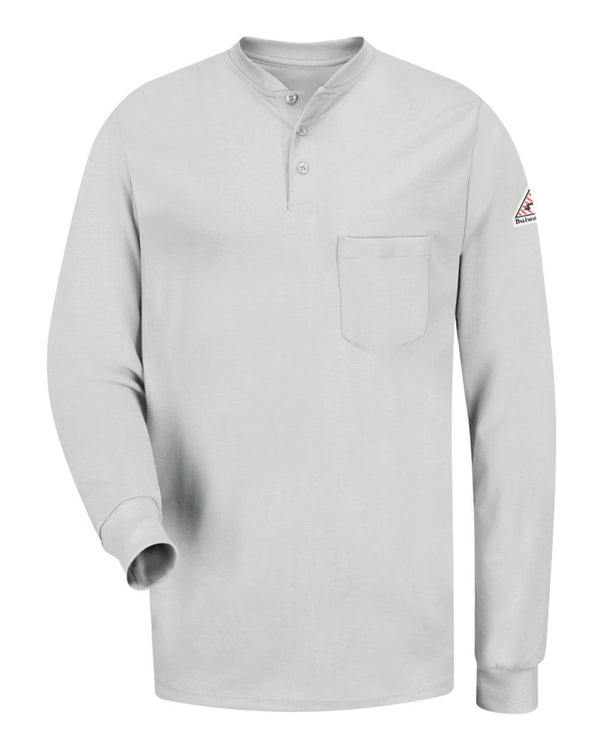Long sleeve Tagless Henley Shirt-Bulwark-Pacific Brandwear