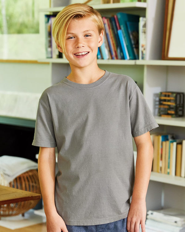 Garment Dyed Youth Short sleeve T-Shirt-ComfortWash by Hanes-Pacific Brandwear