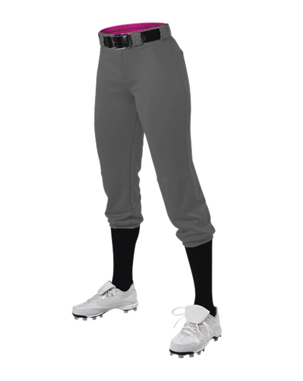 Girls' Belted Speed Premium Fastpitch Pants-Alleson Athletic-Pacific Brandwear