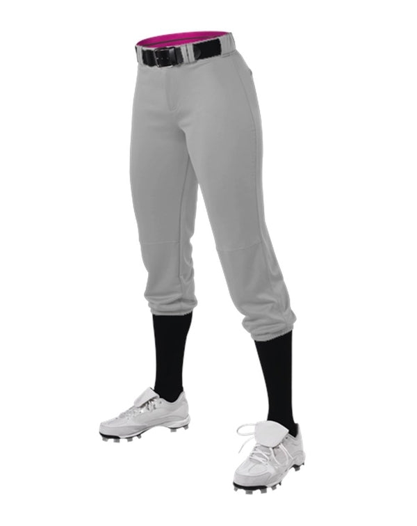 Women's Belted Speed Premium Fastpitch Pants-Alleson Athletic-Pacific Brandwear