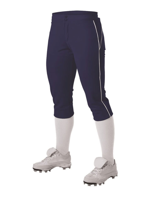 Women's Belted Piped Fastpitch Pants-Alleson Athletic-Pacific Brandwear