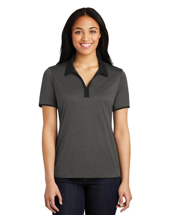 Sport-Tek® Ladies Heather Contender™ Contrast Polo-Sport-Tek-Pacific Brandwear