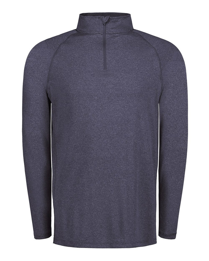 Heather Athletic Long sleeve Quarter Zip-MV Sport-Pacific Brandwear