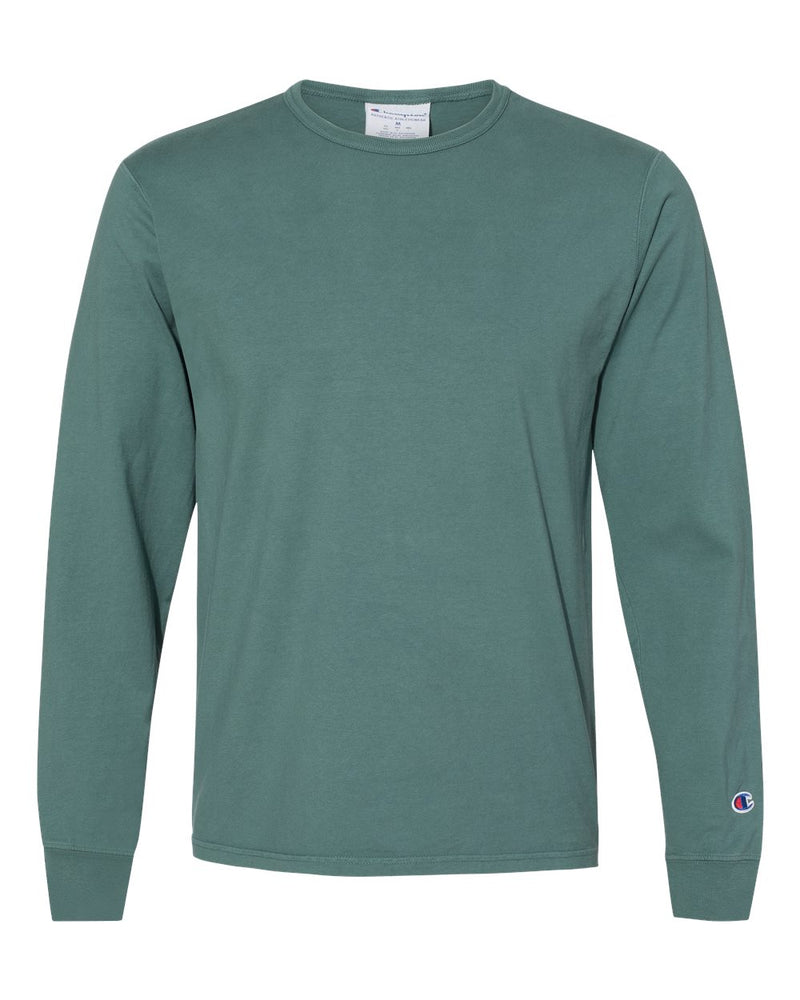 Garment Dyed Long sleeve T-Shirt-Champion-Pacific Brandwear