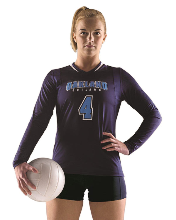 Women's Long sleeve Volleyball Jersey-Alleson Athletic-Pacific Brandwear
