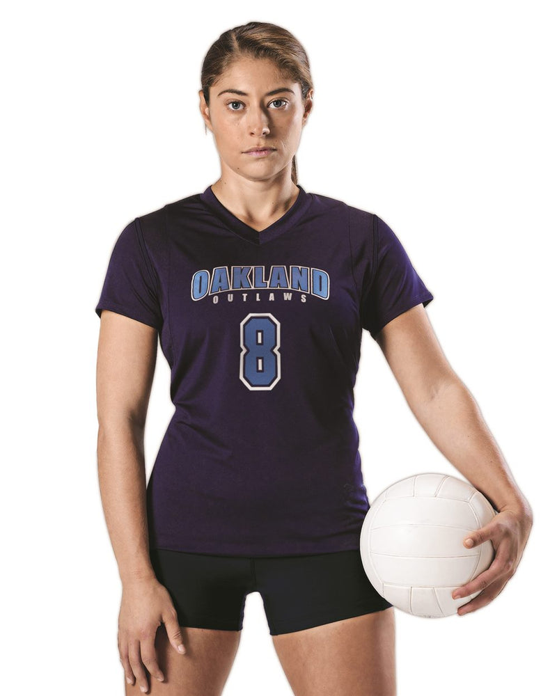 Women's Short sleeve Volleyball Jersey-Alleson Athletic-Pacific Brandwear