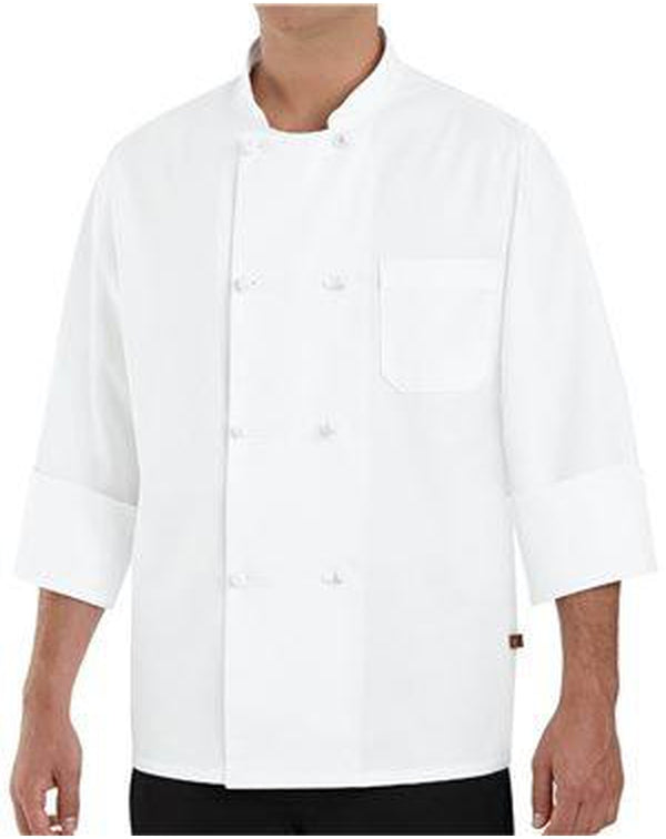 Eight Knot Button Chef Coat Long Sizes-Chef Designs-Pacific Brandwear