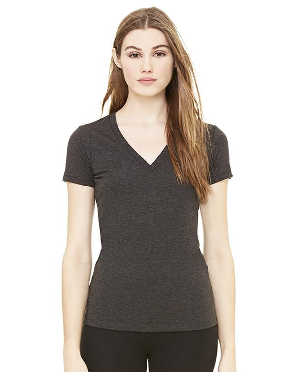 Bella Women's Triblend Deep V-Neck-BELLA CANVAS-Pacific Brandwear
