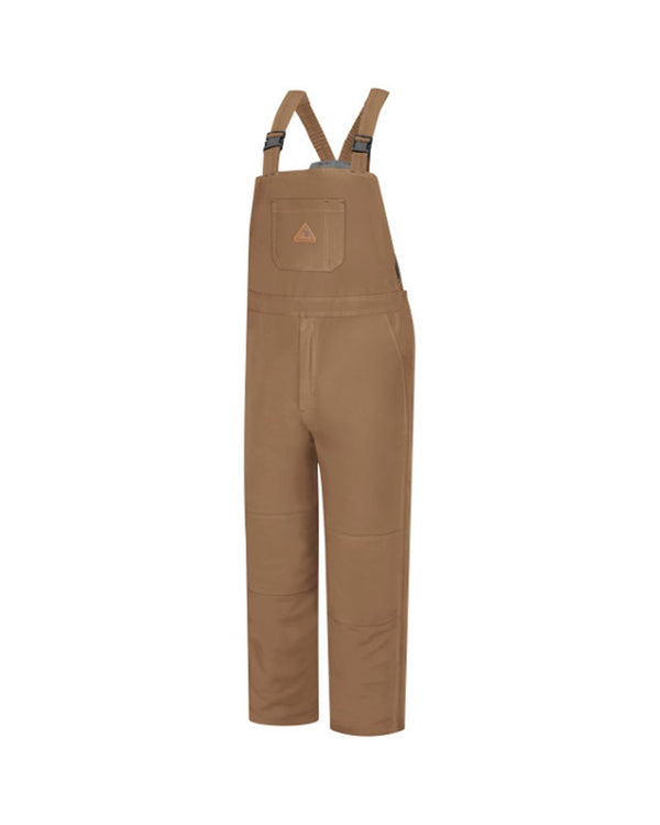 Brown Duck Deluxe Insulated Bib Overall - EXCEL FR ComforTouch Long Sizes-Bulwark-Pacific Brandwear