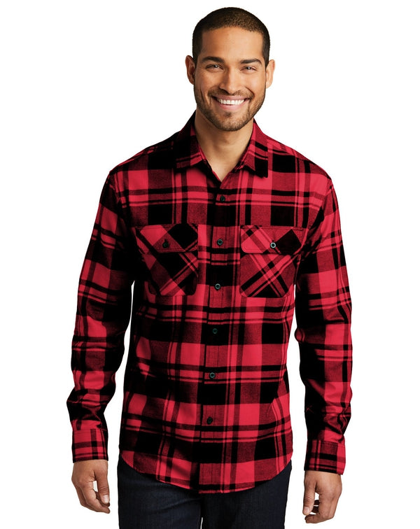 Port Authority® Plaid Flannel Shirt-Port Authority-Pacific Brandwear