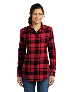 Port Authority® Ladies Plaid Flannel Tunic-Port Authority-Pacific Brandwear