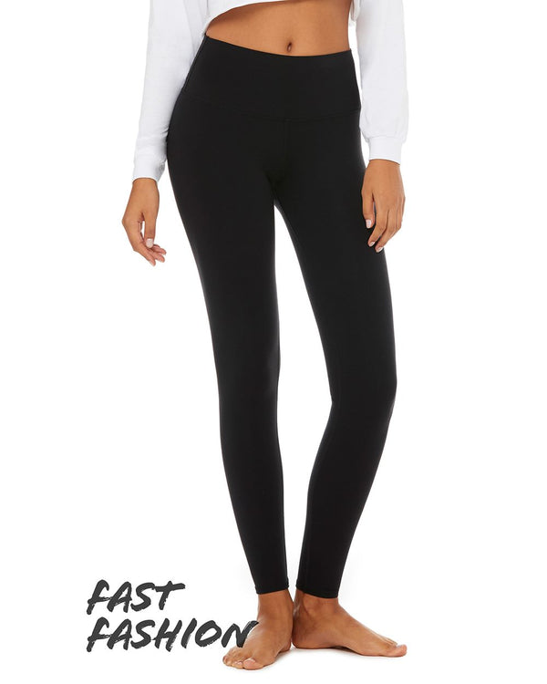 Fast Fashion Women's High Waist Fitness Leggings-BELLA + CANVAS-Pacific Brandwear