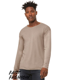 Fast Fashion Unisex Triblend Raw Neck Long sleeve Tee-BELLA + CANVAS-Pacific Brandwear
