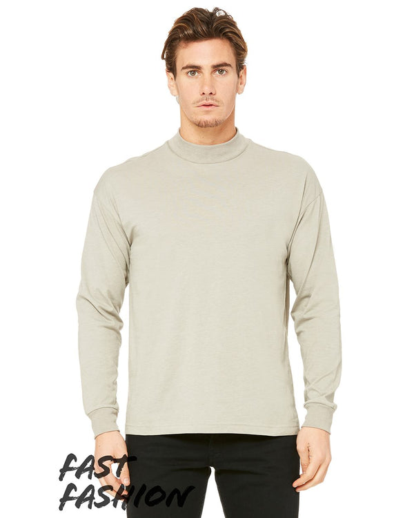 Fast Fashion Unisex Mock Neck Long sleeve Tee-BELLA + CANVAS-Pacific Brandwear