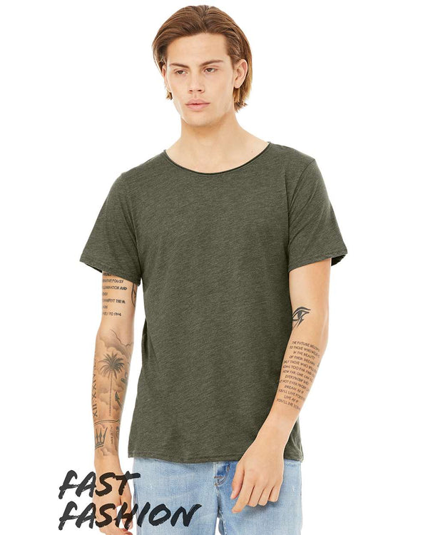 Fast Fashion Unisex Triblend Raw Neck Tee-BELLA + CANVAS-Pacific Brandwear