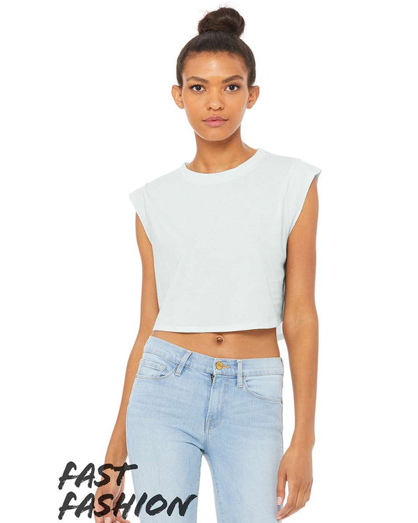 Fast Fashion Women's Festival Cropped Tank-BELLA + CANVAS-Pacific Brandwear