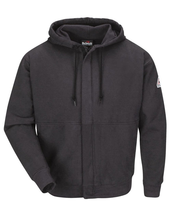 Zip-Front Hooded SweatShirt - Long Sizes-Bulwark-Pacific Brandwear