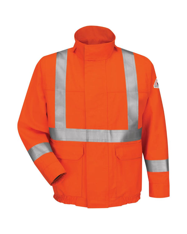 Lined Bomber Jacket with CSA Compliant Reflective Trim - EXCEL FR ComforTouch - Long Sizes-Bulwark-Pacific Brandwear