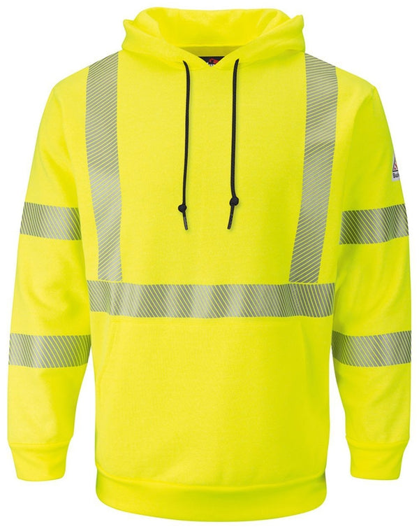 Hi-Visibility Pullover Hooded Fleece Sweatshirt - Long Sizes-Bulwark-Pacific Brandwear