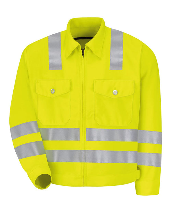 Hi-Visibility Ike Jacket - Long Sizes-Red Kap-Pacific Brandwear