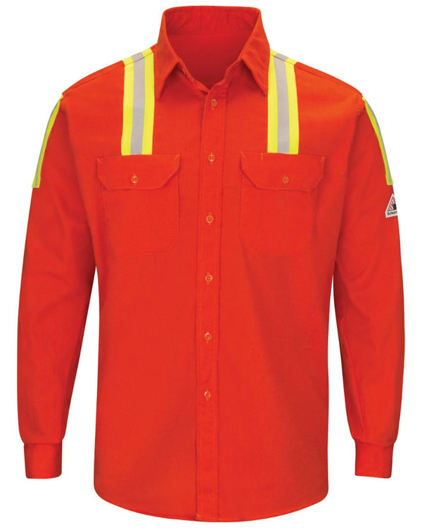 Enhanced Visibility Long sleeve Uniform Shirt - Long Sizes-Bulwark-Pacific Brandwear