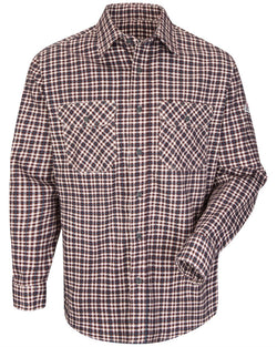 Plaid Long sleeve Uniform Shirt - Long Sizes-Bulwark-Pacific Brandwear