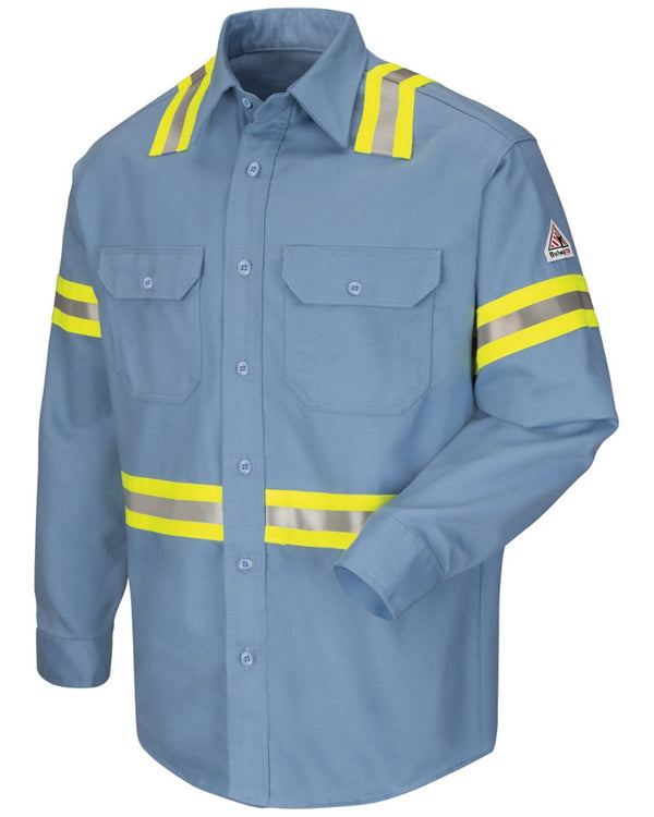 Enhanced Visibility Uniform Shirt - Long Sizes-Bulwark-Pacific Brandwear