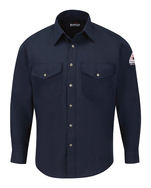 Snap-Front Uniform Shirt - Nomex IIIA - 4.5 oz.-Bulwark-Pacific Brandwear