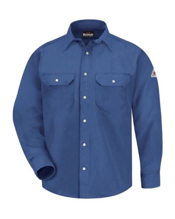 Snap-Front Uniform Shirt - Nomex IIIA - 6 oz.-Bulwark-Pacific Brandwear