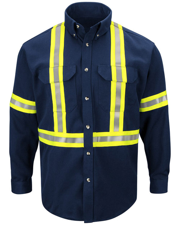 Dress Uniform Shirt with CSA reflective trim - EXCEL FR ComforTouch-Bulwark-Pacific Brandwear