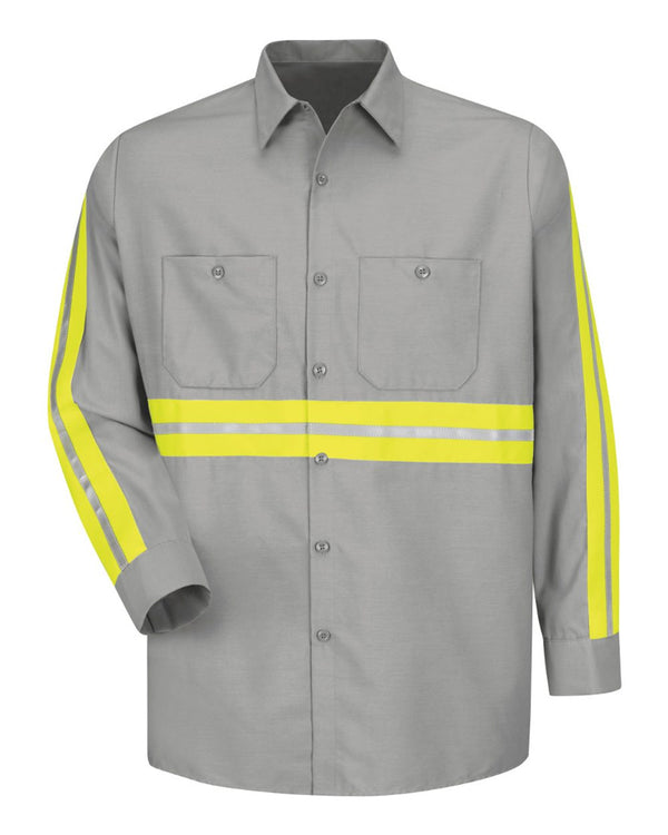 Industrial Enhanced-Visibility Long sleeve Work Shirt - Long Sizes-Red Kap-Pacific Brandwear