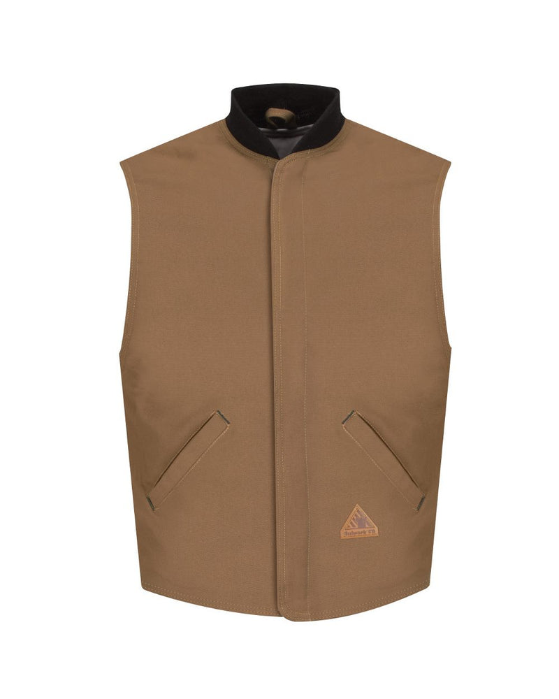 Brown Duck Vest Jacket Liner - EXCEL FR ComforTouch - Long Sizes-Bulwark-Pacific Brandwear
