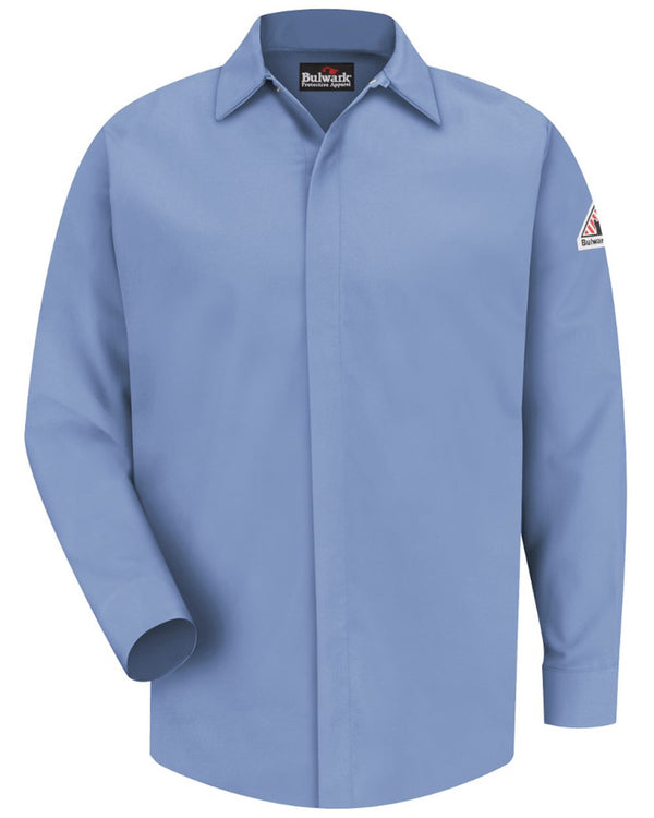 Concealed-Gripper Pocketless Long sleeve Shirt - CoolTouch 2 - Long Sizes-Bulwark-Pacific Brandwear