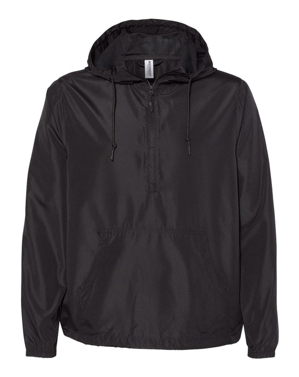 Lightweight Windbreaker Pullover Jacket-Independent Trading Co.-Pacific Brandwear