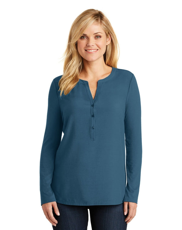 Port Authority® Ladies Concept Henley Tunic-Port Authority-Pacific Brandwear
