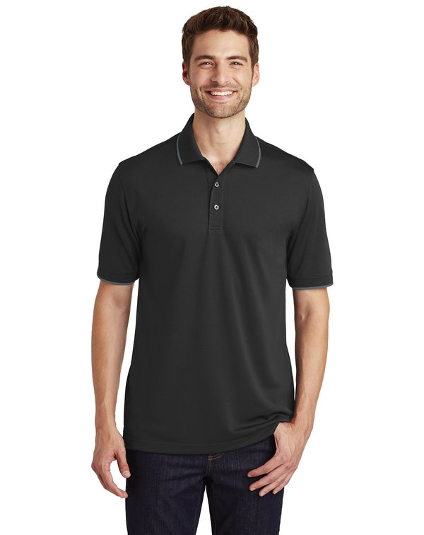 Port Authority® Dry Zone® UV Micro-Mesh Tipped Polo-Port Authority-Pacific Brandwear