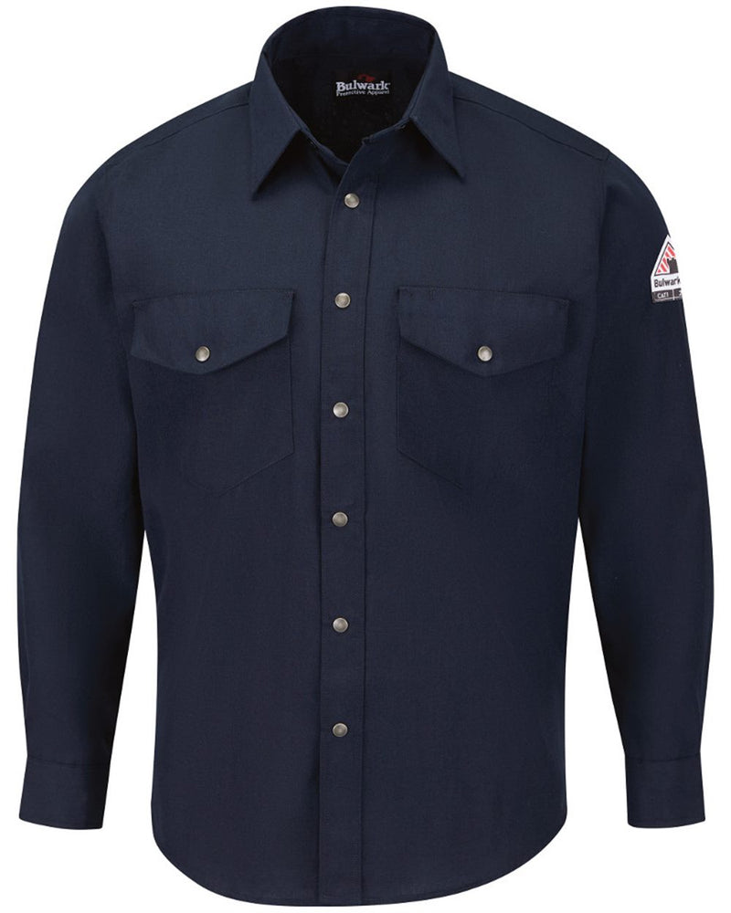 Snap-Front Uniform Shirt - Nomex IIIA - 4.5 oz. - Long Sizes-Bulwark-Pacific Brandwear