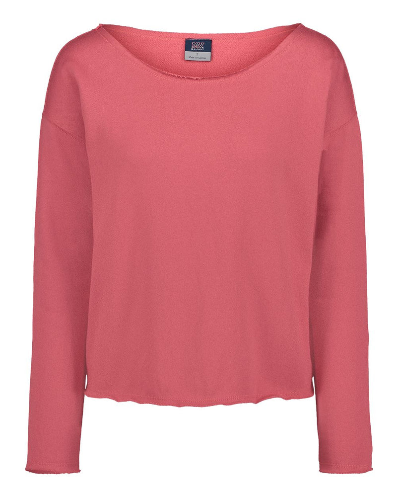 Women's Terry Split Back Pullover-MV Sport-Pacific Brandwear
