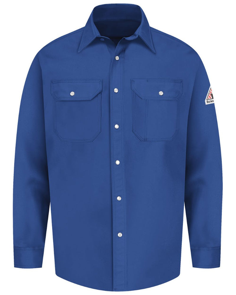 Snap-Front Uniform Shirt - EXCEL FR Long Sizes-Bulwark-Pacific Brandwear