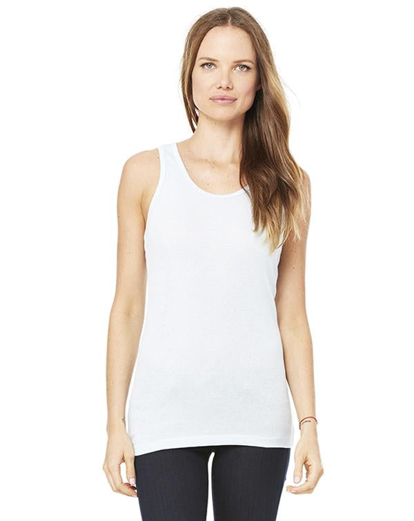 Bella Women's Sheer Mini Rib Racerback Tank-BELLA CANVAS-Pacific Brandwear