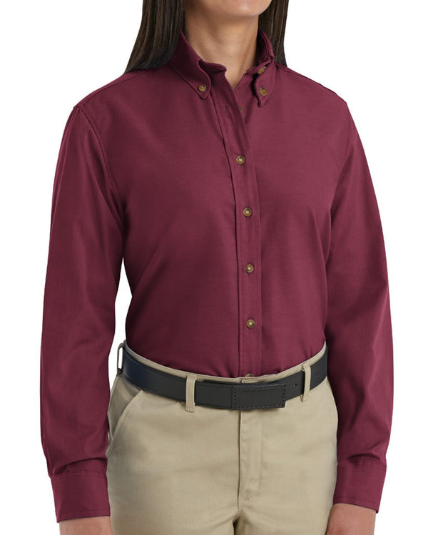 Women's Long sleeve Poplin Dress Shirt-Red Kap-Pacific Brandwear